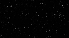 Twinkling spinning stars abstract background, monochromatic realistic - stock footage
