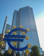 European Central Bank in Frankfurt Stock Photos