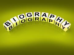 Biography blocks represent writing a memoir or life story Stock Illustration