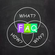 Faq on blackboard means frequently asked questions or assistance Stock Illustration