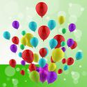 Stock Illustration of floating colourful balloons mean cheerful ceremony or multicoloured party