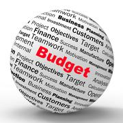 Budget sphere definition shows financial management or business accountant Stock Illustration