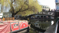 Camden Lock, London UK Stock Footage