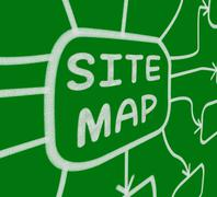 site map diagram means layout of website pages - stock illustration