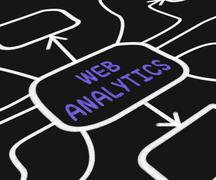 web analytics diagram means collecting and analyzing internet data - stock illustration