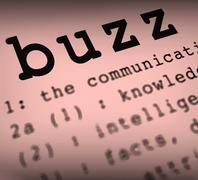 Buzz definition shows public attention or popularity Stock Illustration