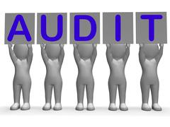 audit banners means financial audience or inspection - stock illustration