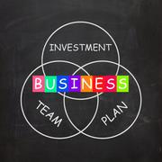business requirements are investments plans and teamwork - stock illustration