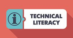 Technical Literacy on Scarlet in Flat Design. - stock illustration