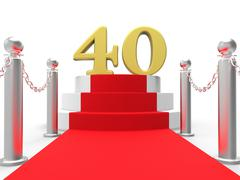 Golden forty on red carpet means entertainment awards party Piirros