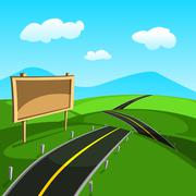 Road Vector Stock Illustration