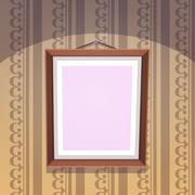 Picture Frame Vector - stock illustration