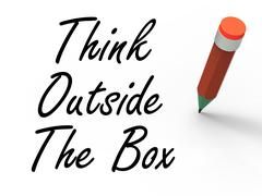 Stock Illustration of think outside the box means creativity and imagination