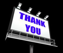 Thank you sign refers to message of appreciation and gratefulness Stock Illustration