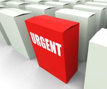 urgent box refers to urgency priority and critical - stock illustration