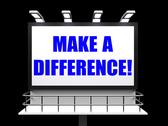 Stock Illustration of make a difference sign represents motivation for causing change