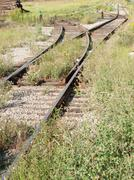 Intersecting railway track Stock Photos
