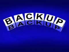 backup blocks mean store restore or transfer documents or files - stock illustration