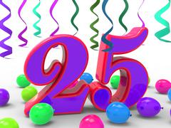 Number twenty five party means birthday party or celebration Stock Illustration
