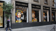 Milan: Dolce & Gabbana shop Stock Footage