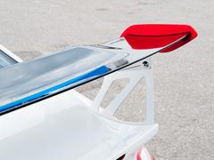 gurney flap of a car - stock photo