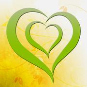 Green heart shows environmental care or eco friendly Stock Illustration