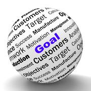Goal sphere definition shows future aims and aspirations Stock Illustration