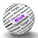 Stock Illustration of risk sphere definition means dangerous and unstable