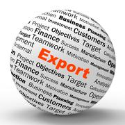 Stock Illustration of export sphere definition shows abroad selling and exportation
