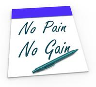 no pain no gain means toil and achievements - stock illustration