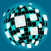 modern disco ball background means nightlife or discos - stock illustration