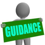 Stock Illustration of guidance sign character means support and assistance
