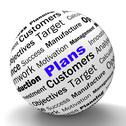 Stock Illustration of plans sphere definition shows customers target arrangement or aim