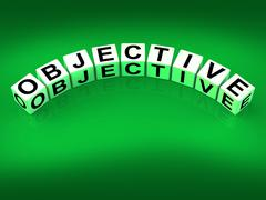 Stock Illustration of objective blocks mean goals targets and objectives