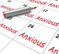 Stock Illustration of anxious calendar means worried tense and uneasy