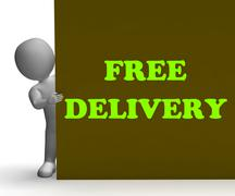 Free delivery sign shows express shipping and no charge Piirros