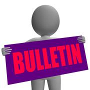 Bulletin sign character shows bulletin board or announcement Stock Illustration