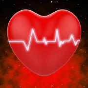 Electro on heart shows heart pressure or extreme passion Stock Illustration