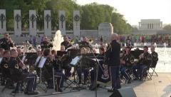 US Army Band WWII Memorial, DC, free concert Stock Footage