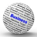 Stock Illustration of business sphere definition means corporative transactions and commerce