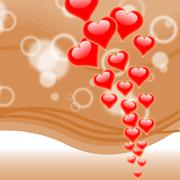 Stock Illustration of hearts on background means romance love and passion