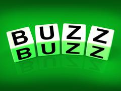 Buzz blocks indicate excitement attention and public visibility Stock Illustration