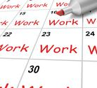 Stock Illustration of work calendar shows job occupation or labor