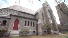 Old Church1 Stock Footage