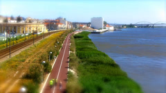 Vila Franca de Xira Tilt Shift Stock Footage