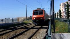 Train Close Pass Stock Footage
