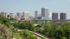 Downtown Richmond, Virginia - stock footage