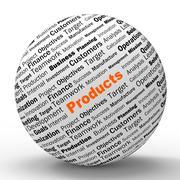 Tuotteet pallo määritelmästä ilmenee tai kauppakeskuksen ostot Piirros