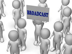 Stock Illustration of broadcast board character means digital information reception and transmissio