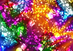 Colorful bokeh abstract background Stock Illustration
